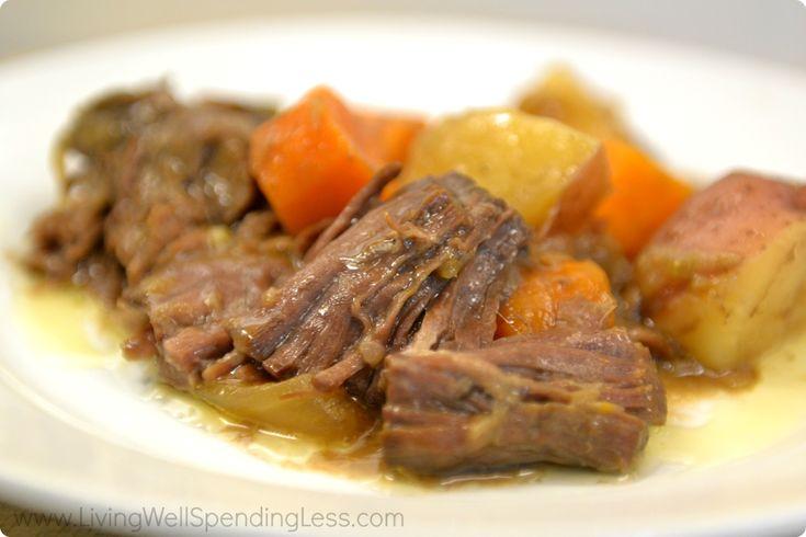 Easy Freezer Pot Roast | Best Pot Roast Recipe | Slow Cooker Pot Roast
