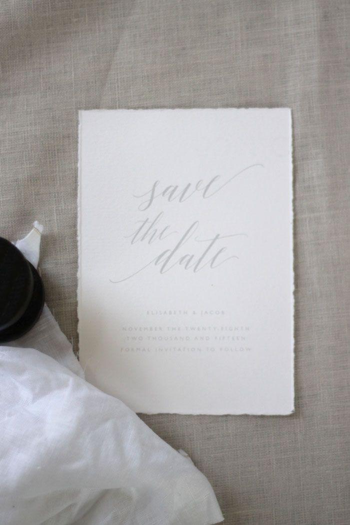 Just My Type Wedding Invitation and Wedding Stationery Design NZ Soft grey organic and elegant calligraphy