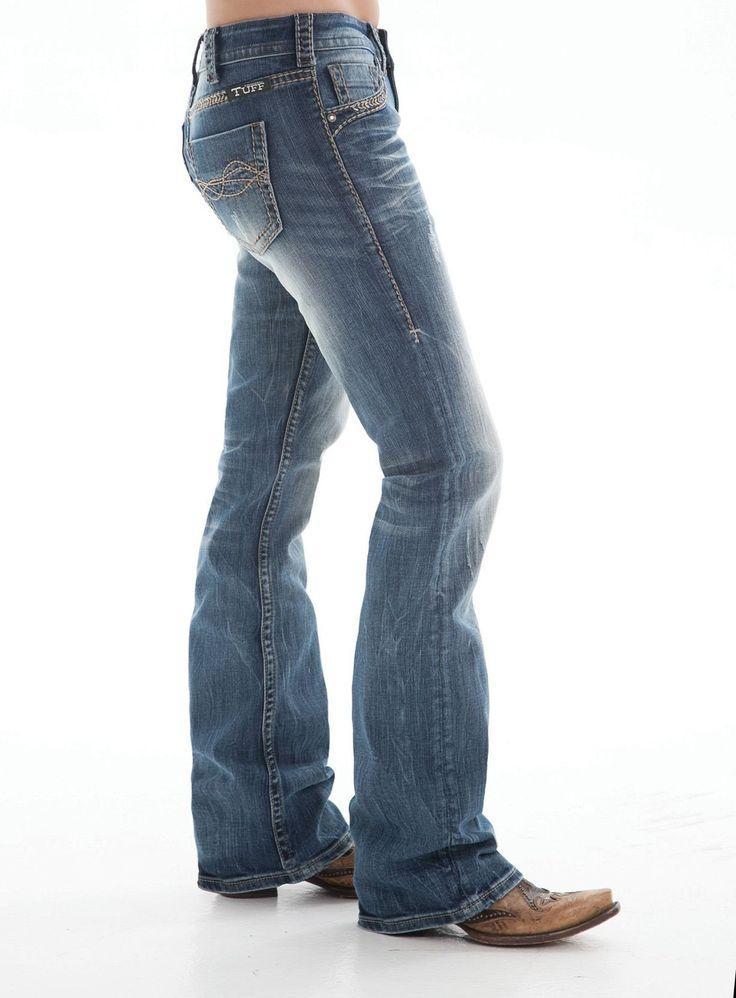 Cowgirl Tuff Women's Twisted Metal Boot Cut Jeans JTWMET