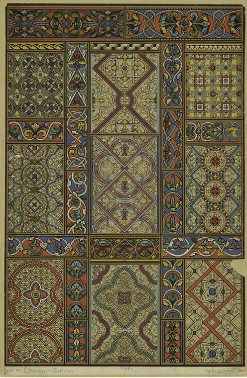 Средневековое искусство и готический орнамент Средневековое искусство и готический орнамент #110