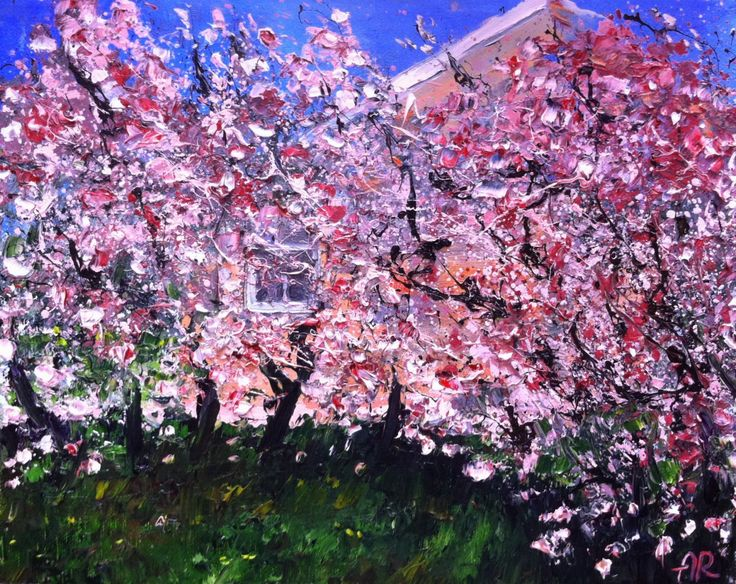 Cherry blossom, Oil painting by Alena Rumak | Artfinder