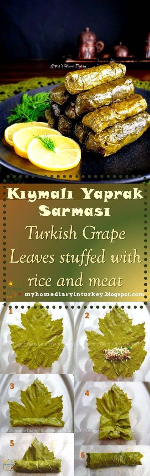 Kıymalı Yaprak Sarması / Turkish Grape Leaves stuffed with rice and meat . #yapraksarma #dolma #turkishdolma #grapeleavesdolma #turkish #appetizer #vegan