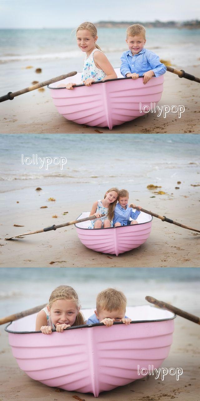 Creative prop beach photography children family