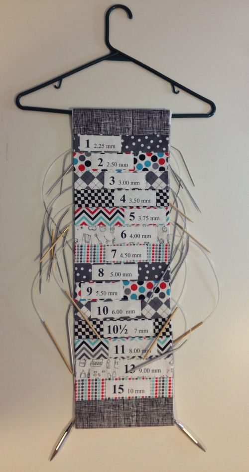 Holder for circular knitting needles