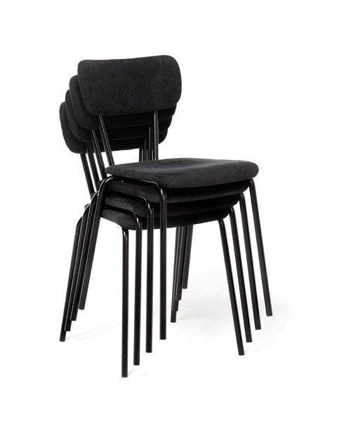 Staplningsbar partystol med klädd sits - Fixbordet