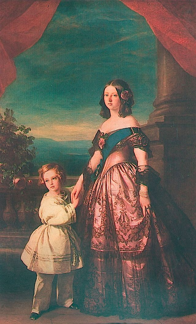1846 Queen Victoria and the Prince of Wales by Franz Xaver Winterhalter (Royal Collection)