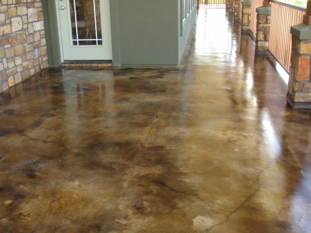 Acid stain concrete floor house remodeling ideas for Concrete floors in house