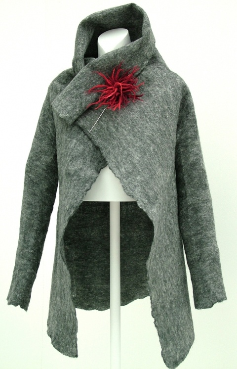 Rebecca Dallas, love the pin and jacket style. would look incredible from handwoven fabric