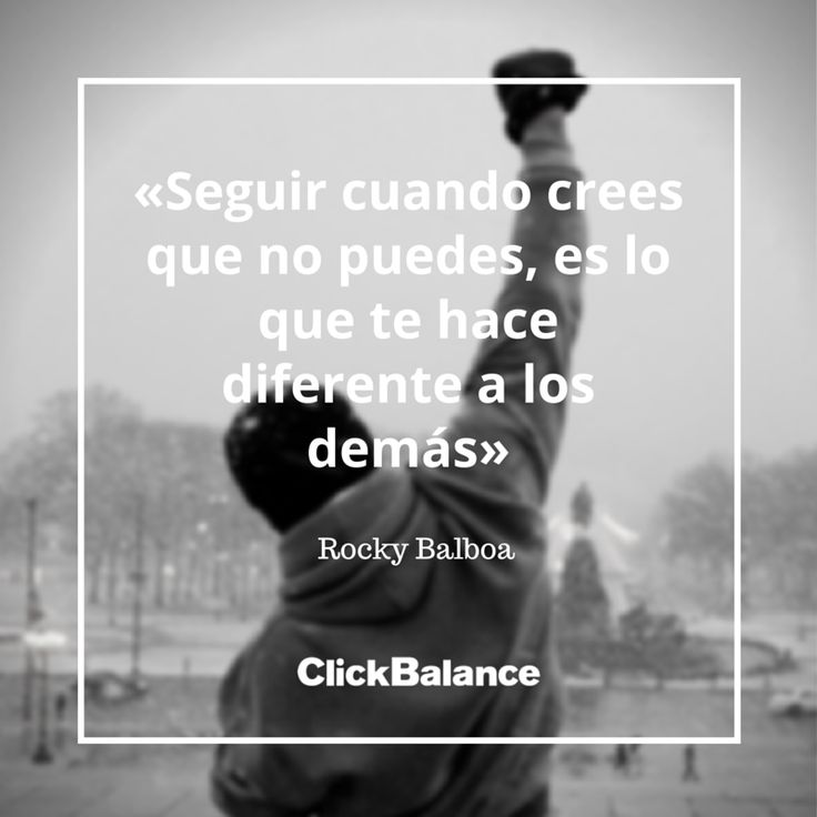 Rocky Balboa #Frase #Cita #Emprendedor