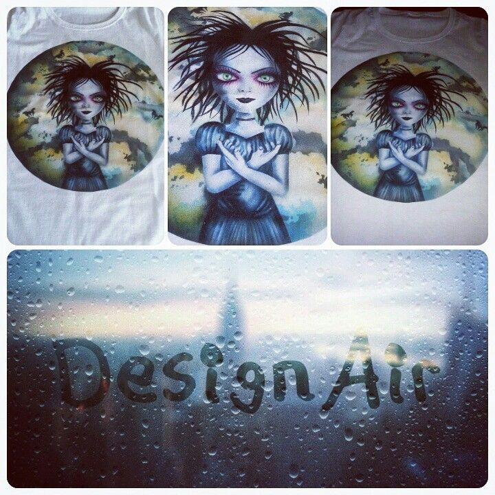 Airbrush t-shirt  studio-designair@blogspot.com