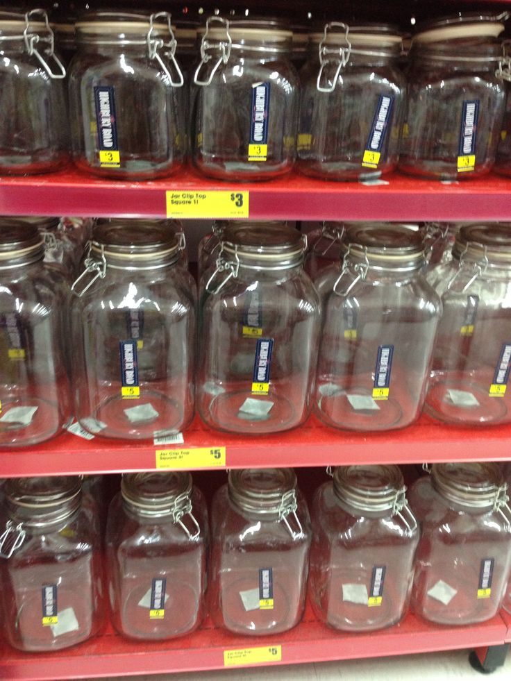Jars for pantry at reject shop
