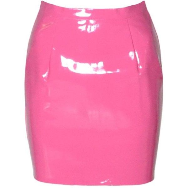 Womens Terrie PVC Tulip Skirt (CH) (31 PAB) ❤ liked on Polyvore featuring skirts, bottoms, pink, pink pvc skirt, terry skirt, women skirts, terry cloth skirt and pink skirt