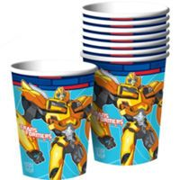 Transformers Party Supplies - Transformers Birthday - Party City - Bumblebee cups