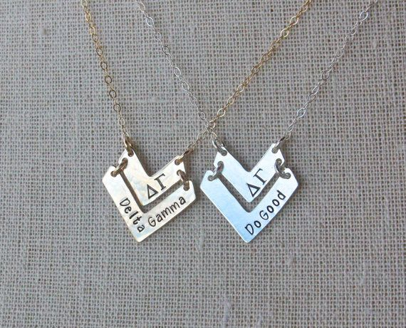 Delta Gamma Necklace  Delta Gamma Do Good by TomisTreasures