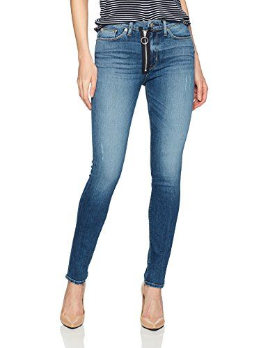 52a45624ab6 Women's Barbara High Rise Super Skinny Jean With Exposed Zipper ...