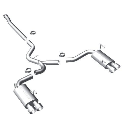 MagnaFlow 15472 Large Stainless Steel (Silver) Performance Exhaust Sy