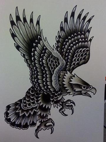 Eagle - Richard Stell Tattoos