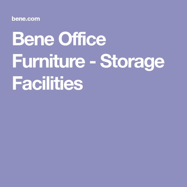Bene Office Furniture - Storage Facilities