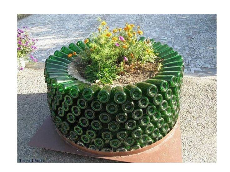 17 best ideas about cosas recicladas on pinterest centro - Como adornar un jardin ...