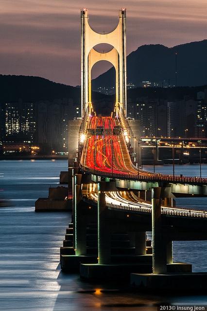 広安大橋。釜山 旅行・観光おすすめスポット!