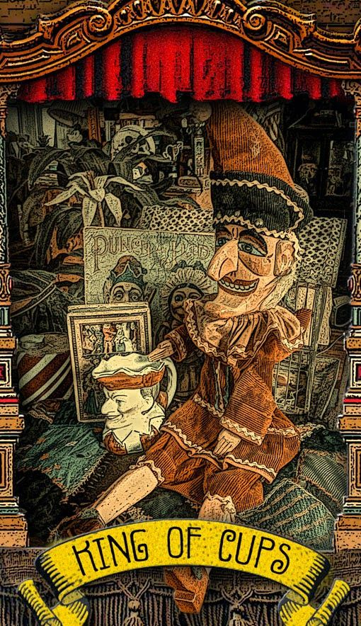 Tarot D The Didactic Tarot By Jeffrey M Donato: The Tarot Of Mister Punch: A King In His Cups