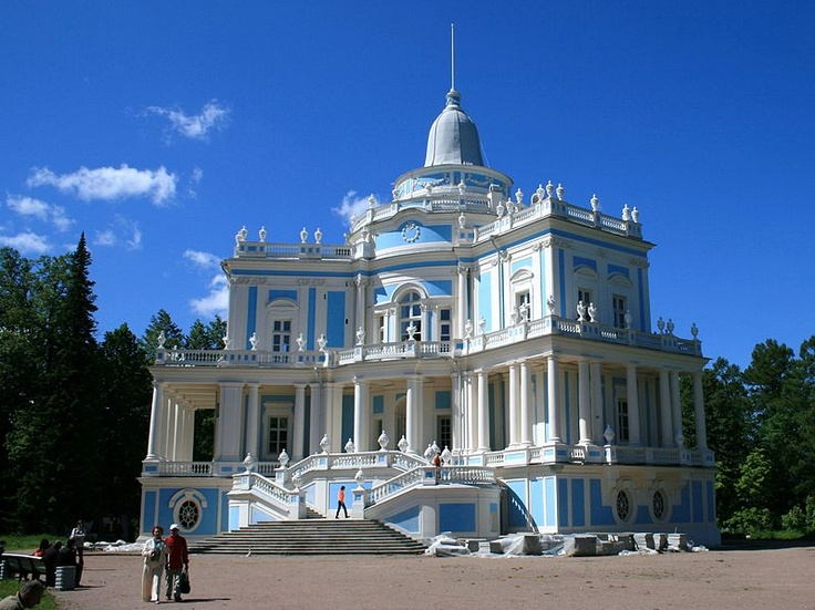 Oranienbaum (Russian: Ораниенба́ум) is a Russian royal residence, located on the Gulf of Finland west of St. Petersburg.