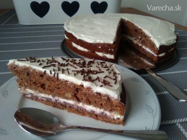 Mrkvová torta s mascarpone krémom (fotorecept)