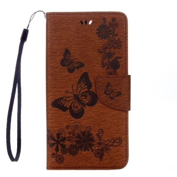 Loyally Elegant Butterfly Flip Leather Case For Samsung Galaxy S7 S6 Edge S5