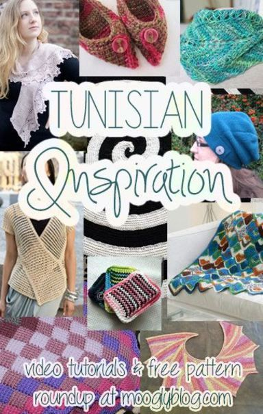 Learn Tunisian Crochet! Video tutorials and free patterns at moogly! #crochet