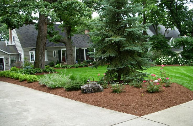 17 best ideas about corner landscaping on pinterest for Hard landscaping ideas