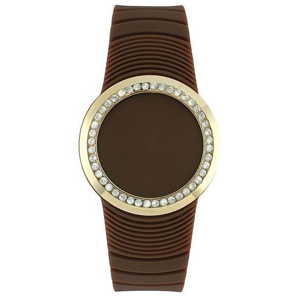 TKO Orlogi Women's Crystal Touch Digital Watch ($36) ❤ liked on Polyvore featuring jewelry, watches, brown, tko orlogi, brown watches, tko orlogi watches, crystal jewellery and crystal jewelry