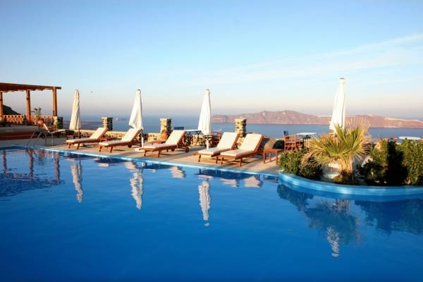 Hotel Imerovigli Palace - Santorini ... #Hotel, #Hotels, #SpecialOffers, #HotelDirect, #HotelGuide, #BestHotels ... Welcome to Hotel Imerovigli Palace Santorini, Hotel Imerovigli Palace offers a piano-lounge bar, a large pool with superb view, and rooms with panoramic view of the caldera, the volcano and the sunset. The 5-star hotel is located on the cliff of the world-famous Santorini Caldera. A bus station...