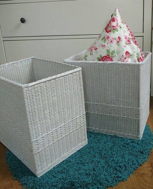 Плетеные короба из бумажной лозы