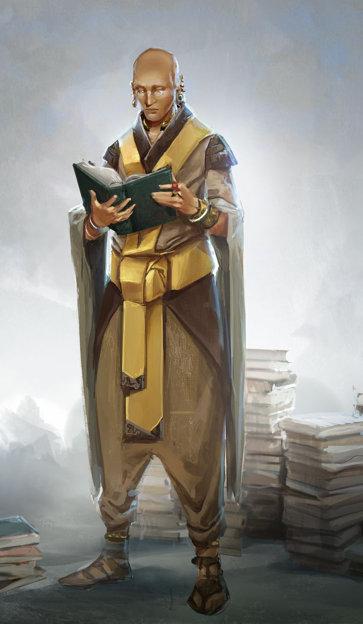Alex Allen: Character concept for Sazed from the Mistborn series