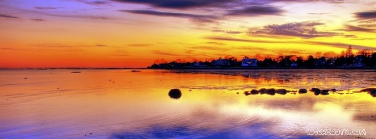 stunning sunset facebook cover