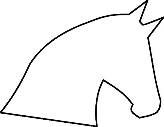 Horse Head Outline | Template (Click here to download horse head template...) Fabric Hot ...: