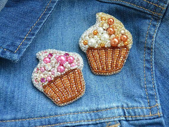 #CupcakeBrooch #CutePin #Kawaiibrooch