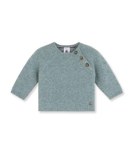 Pull bébé garçon en tricot laine et coton