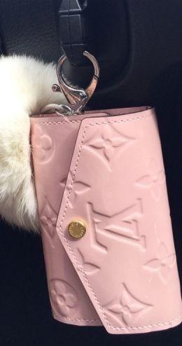 Pink Louis Vuitton Wallet Key Chain