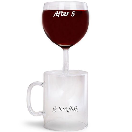 before & after 5 coffee & wine glass - BIGMOUTH INC - Contact Voodle for NZ retailers www.voodle.co.nz