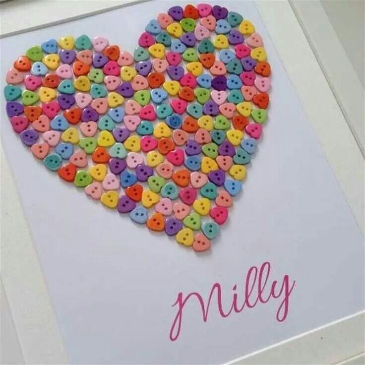 simple colourful heart