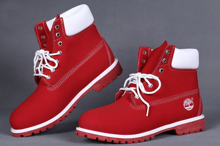 red and white timberland boots for women custom 6 inch on sale,timberland womens chukka,Timberlands Boots red,fleece snow boots,Timberlands Boots 2017,Timberland Womens Boots #fashion #style