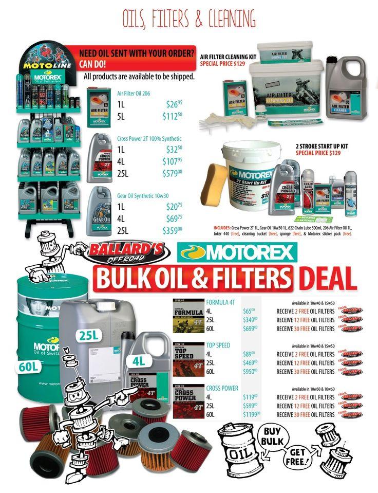 Bike - Engine - Oils, Filters & Cleaning - Ballard's Offroad