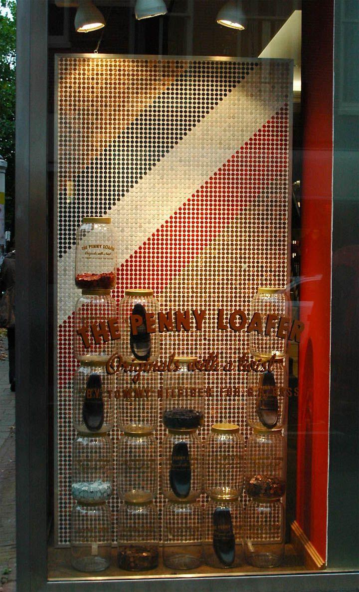 Shoe Store Window Display Ideas   ... window display by Storeax 02 Tommy Hilfiger Penny Loafer window
