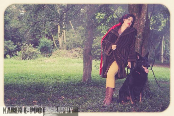 Little Red & the wolf #littleredridinghood #fantasyphotoshoot #artphoto #bigbadwolf by @karenephotos