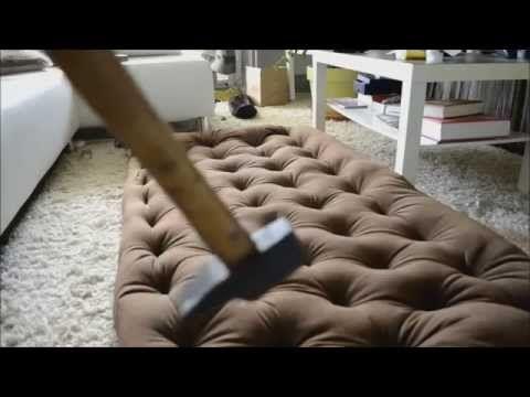 Кровать с капитоне своими руками - YouTube