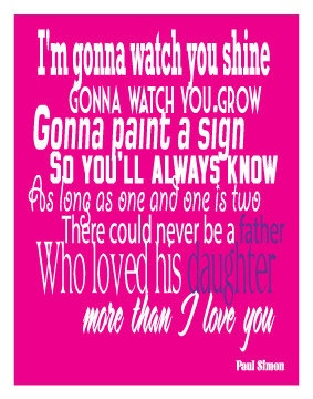 This has been one of mine and my daddy's songs since we heard it on the wild thornberries movie. I've had the best dad a daughter could ask for. He never ever left my side no matter what mistakes I made. And he still treats me like his baby girl. In fact I am curled up under the new blanket he got me. :) I may have also got a new pair of under armor shoes from him. Lol I'm spoiled