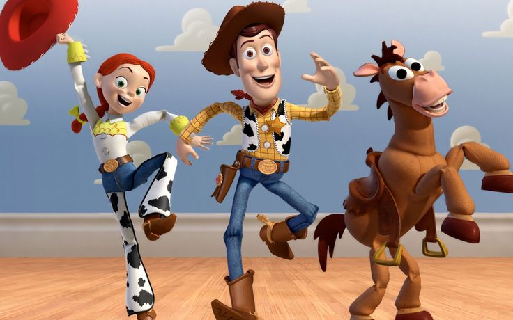 Toy Story's cowgirl, cowboy, and blazing steed