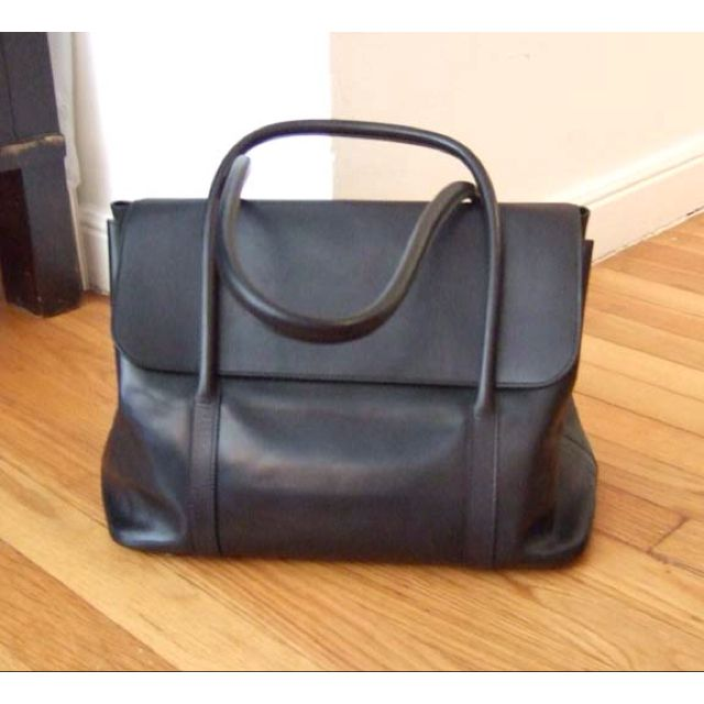 Hermes Initiale bag designed by Martin Margiela in black evercalf. One of my prized H bags! (borrowed photo)