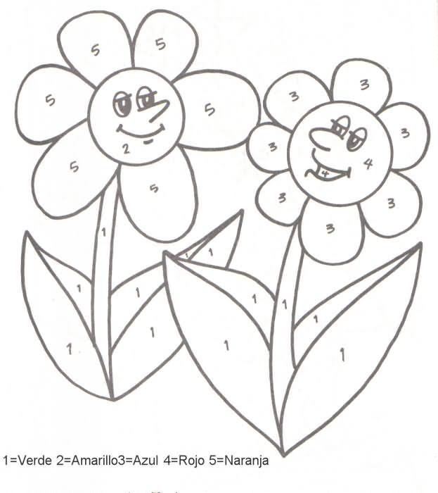 Actividades para niños preescolar, primaria e inicial. Fichas para imprimir donde debes colorear las zonas indicadas para niños de preescolar y primiraria. Colorear las zonas indicadas. 55